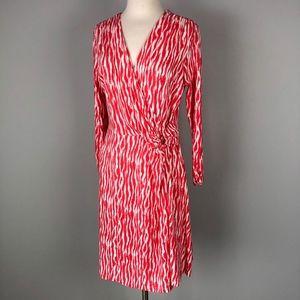 Pendleton | Pink White Faux Wrap Dress